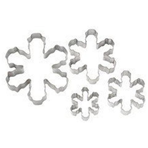 Set 4 Tagliapasta In Metallo Fiocco Di Neve