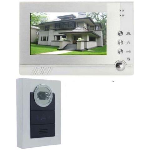 Image of Videocitofono Cablato Citofono Con Telecamera Bianco