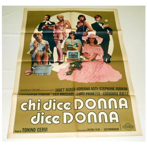 Vendilosubito Manifesto Originale Del Film Chi Dice Donna Dice Donna