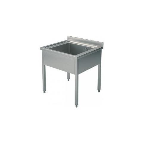 Lavello 70x60x85 Acciaio Inox 304 Su Gambe Cucina Ristorante Rs5547