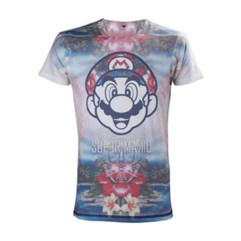 BIOWORLD Nintendo - Tropical Mario (T-Shirt Unisex Tg. 2XL)