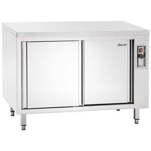 347147 Armadio in inox riscaldato con ripiano 1400x700x850-900 mm
