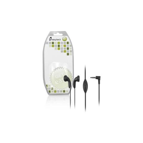 EASYTECK Auricolari Stereo 3,5 mm per T110 / T120 / F200 colore nero