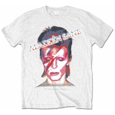 ROCK OFF David Bowie - Aladdin Slane White (T-Shirt Unisex Tg. 2XL)