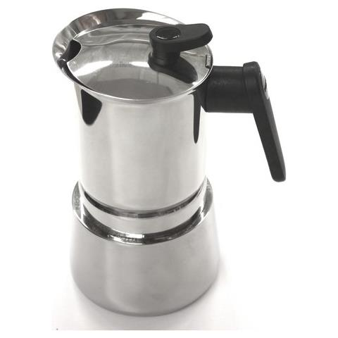 Caffettiera 4 Tazze Induction Steel Moka Acciaio Inox 18/10. Adatta A Tutti I Piani Cottura - 02cf037