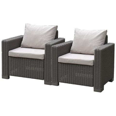 Set Sedie Da Giardino 2 Pz California Cappuccino 231560