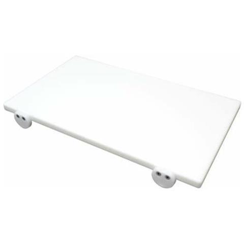Tagliere In Polietilene Professionale Bianco 80x40x2 Fermi