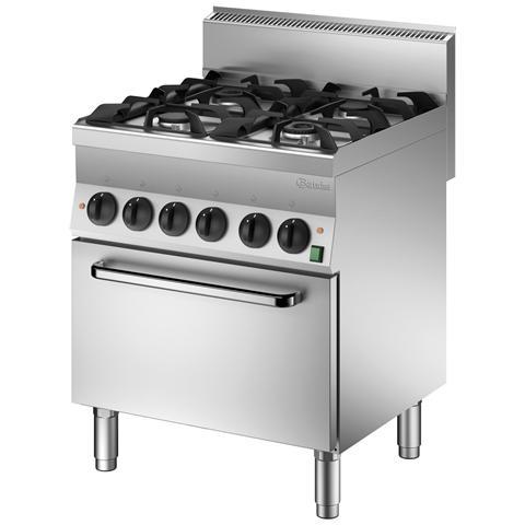 1151143 Cucina a Gas con Forno elettrico GN1/1 serie 65 4 bruciatori