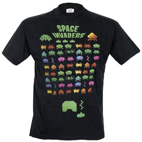 TimeCity Space Invaders - Multi Coloured (T-Shirt Unisex Tg. S)
