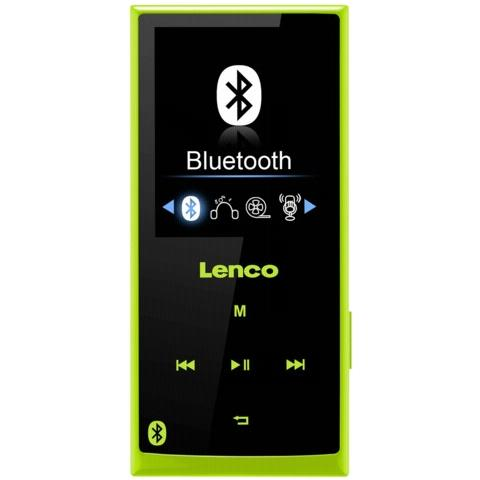 Lenco Xemio 760 BT 8GB, MP4, Nero, Verde, Flash-media, MicroSD (TransFlash) , TFT, APE, FLAC, MP3, OGG, WAV, WMA