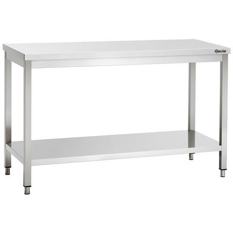 307147 Tavolo da lavoro senza alzatina in inox 1400x700x850-900 mm