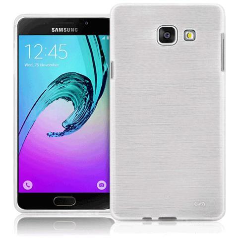 FONEX Perla Cover in Morbido TPU con Effetto Madreperla per Galaxy A3 (6) Colore Bianco