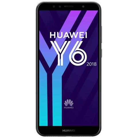 "HUAWEI Y6 2018 Nero 16 GB 4G / LTE Display 5.7"" HD Slot Micro SD Fotocamera 13 Mpx Android Italia"