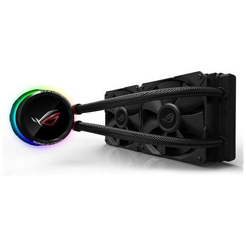 Dissipatore ROG RYUO 240 Sistema di Raffreddamento per CPU All-In-One Liquid, Display OLED, Aura Sync RGB, 2 Ventole di Raffreddamento da 120 mm, Nero