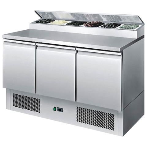 Saladette Refrigerata Statica 3 porte Cm. 136,5x70x97H.