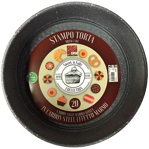 PFOA Free, stampi Dolci In Carbon Steel Effetto Marmo Qualita' Extra - Stampo Apribile 20 Cm
