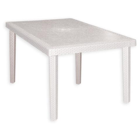 Tavolo Esterno Giardino Resina Bianco 90 x 90