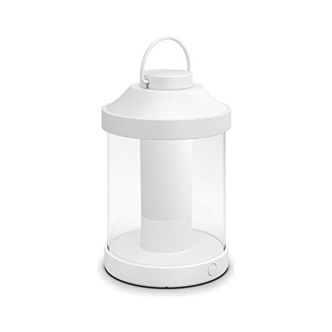 Abelia Lampada da Tavolo da Esterno senza Fili LED Integrato Bianco