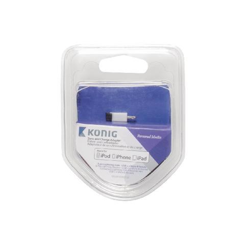 KÖNIG KNM39901W, 8-Pin, USB-2.0 Micro-B, Maschio / femmina, Bianco, Plastica, Blister