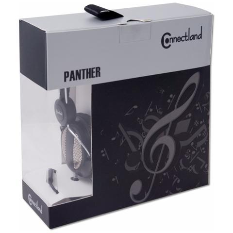 """CONNECTLAND CL-AUD63027, Stereofonico, 3.5 mm (1/8"""") , Padiglione auricolare, Nero, Cablato, Sovraurale"""