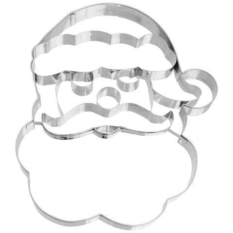 Tagliapasta In Acciaio Viso Babbo Natale Grande 19 Cm