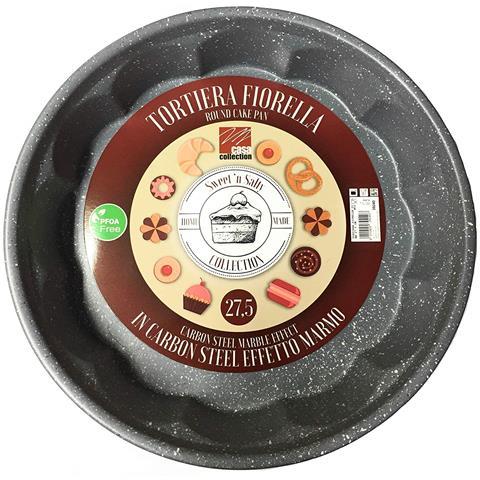 PFOA Free, stampi Dolci In Carbon Steel Effetto Marmo Qualita' Extra - Fiorella