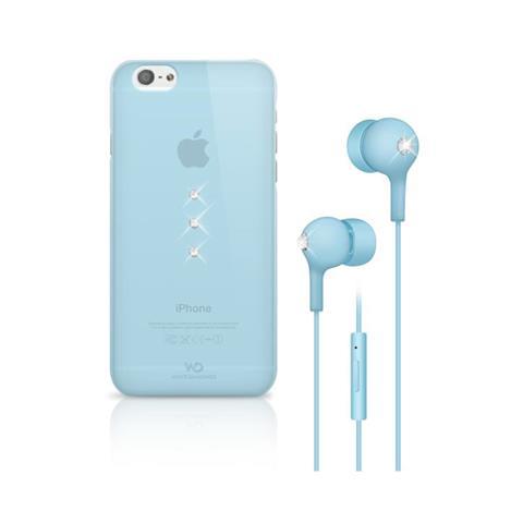 WHITE DIAMONDS Earphone Bundle Cyan Iphone 6s / 6