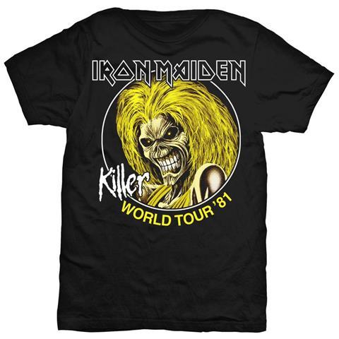 ROCK OFF Iron Maiden - Killer World Tour 81 (T-Shirt Unisex Tg. S)