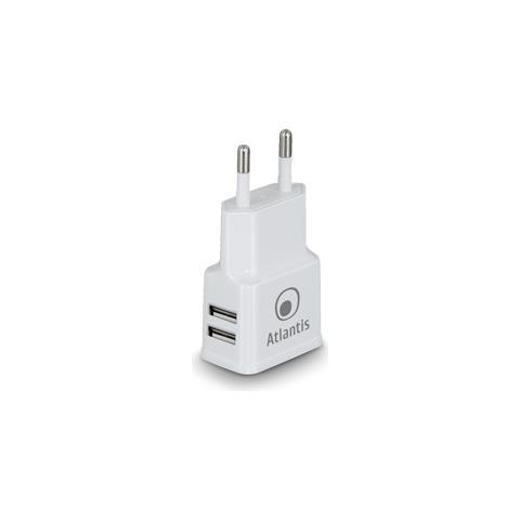 ATLANTIS LAND Caricabatteria P008-ST20-2.4A USB 2.4A Colore Nero