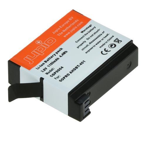 Jupio CGP0004, Ioni di litio, Videocamera, Nero, Arancione, Bianco, GoPro AHDBT-401, GoPro HERO4