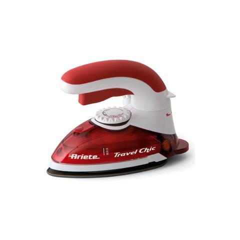 ARIETE 6224 Travel Chic Ferro da stiro a Vapore da Viaggio Potenza 800 W Colore Rosso e Bianco