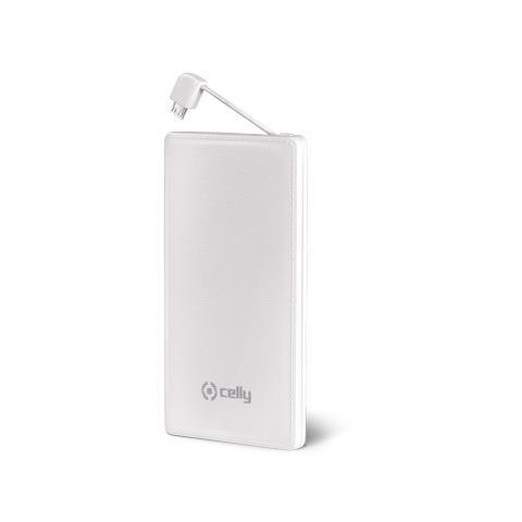 CELLY Power Bank Batteria Esterna 3000 mAh - Bianco