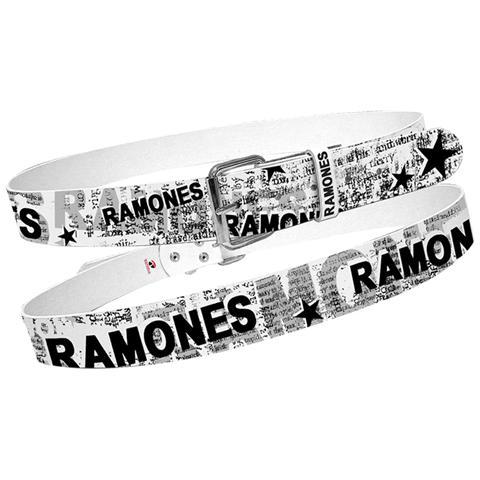 BIOWORLD Ramones - White With Full News Print Collage (Cintura Tg. L)