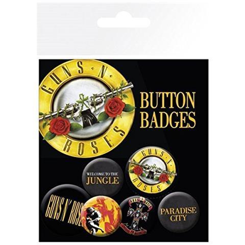 GB EYE Guns N' Roses - Lyrics And Logos (badge Pack)
