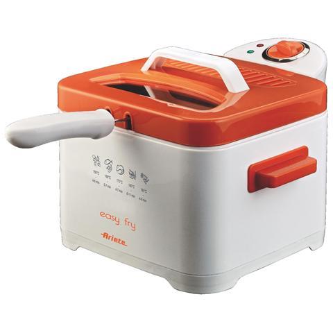 4611 Easy Fry Friggitrice Capacità 2.5 Litri Potenza 2000 Watt Colore Arancione
