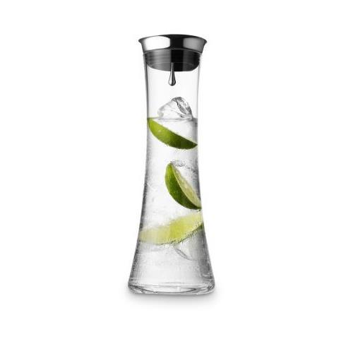 Caraffa da acqua 800 ml con coperchio color argento