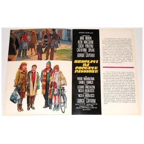Vendilosubito Brochure 4p Originale Del Film Bruciati Da Cocente Passione 1976 Ingfra