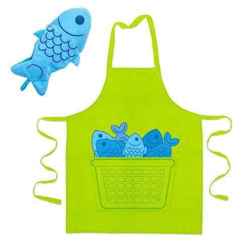 Grembiule & Guantone Cucina Blue Fin