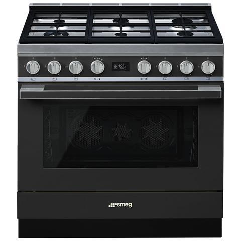 Cucina Elettrica CPF9GPAN 6 Fuochi a Gas Forno Elettrico Dimensione 90 x 60 cm Colore Antr...