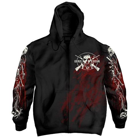 PHM Walking Dead (The) - G&D Filigree Zip (Felpa Con Cappuccio Unisex Tg. L)
