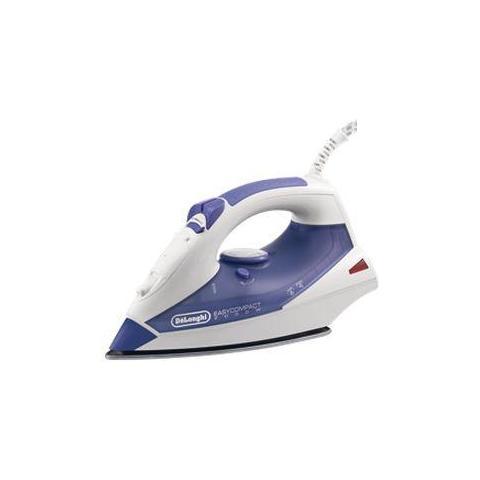 DE LONGHI FXK20 Easy Compact Ferro da Stiro a Vapore Potenza 2000 Watt Colore Bianco / Viola