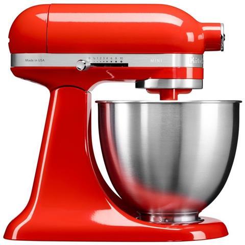 5KSM3311XEHT Robot da Cucina 4 Accessori Inclusi Potenza 250 Watt Capacità Ciotola 3,3 Litri Colore Rosso Paprika