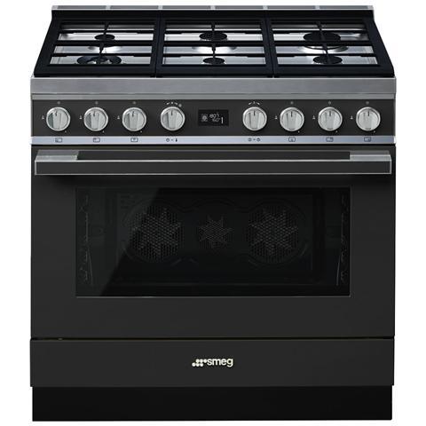 Cucina Elettrica CPF9GMAN 6 Fuochi a Gas Forno Elettrico Dimensione 90 x 60 cm Colore Antr...