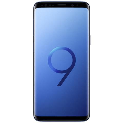 "SAMSUNG Galaxy S9 Blu 64 GB 4G Dual Sim Impermeabile Display 5.8"" Quad HD Slot MicroSD Fotocamera 12Mpx Italia"
