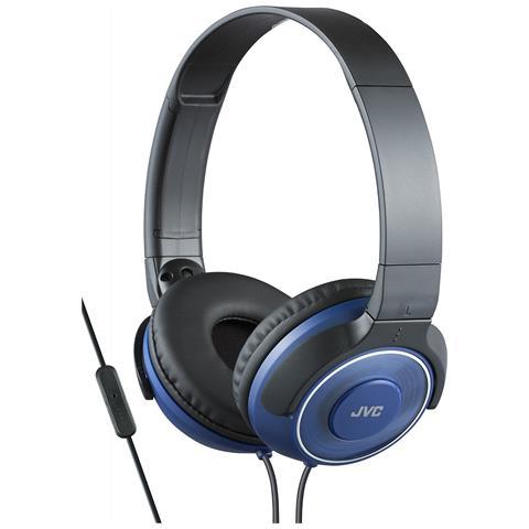 JVC Cuffie Leggere ad Alta Qualità con Microfono e Telecomando colore Blu