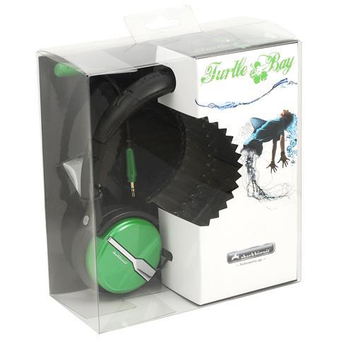 NGS Cuffie con Microfono per DJ Connessione Cavo Verde 220 cm