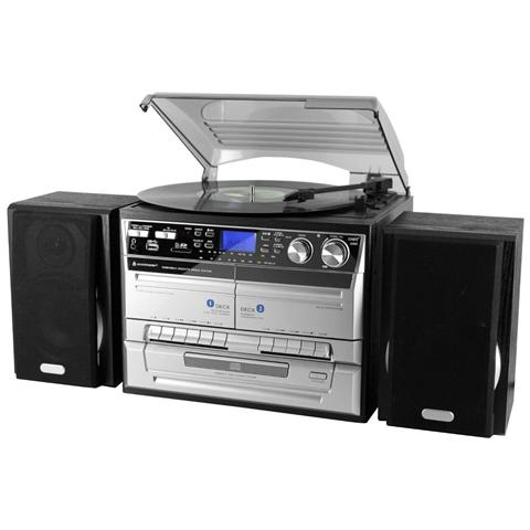 SOUNDMASTER Sistema Micro Hi-Fi MCD 4500 USB Lettore CD / Giradischi / Musicassette Supporto MP3 Potenza Totale 40Watt USB Slot SD