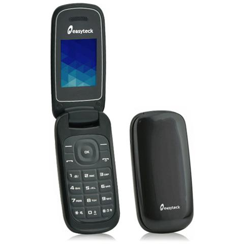 "EASYTECK F100 Cellulare dual sim con chiusura flip attiva display 1.8"" Slot MicroSD Bluetooth Fotocamera RadioFM"