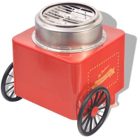 Macchina Per Lo Zucchero Filato Con Ruote 480 W Rossa