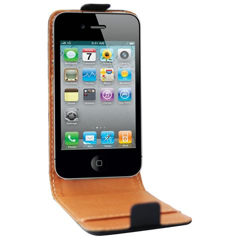 SWISS CHARGER CUSTODIA X APPLE IPhone 4/4S SCP10004 SWISS CHARGER IN VERA PELLE NERA